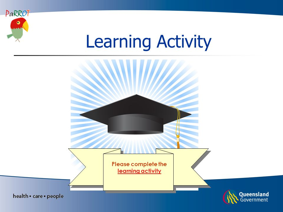 Please complete the learning activity