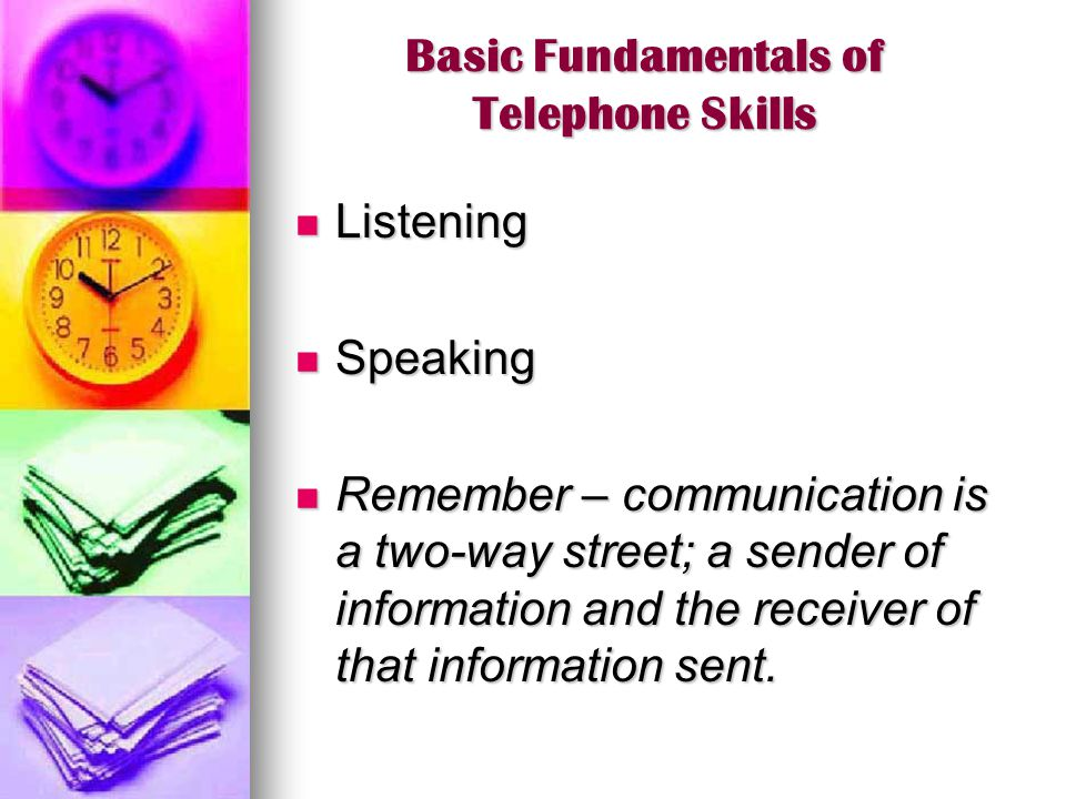 Basic Fundamentals of Telephone Skills
