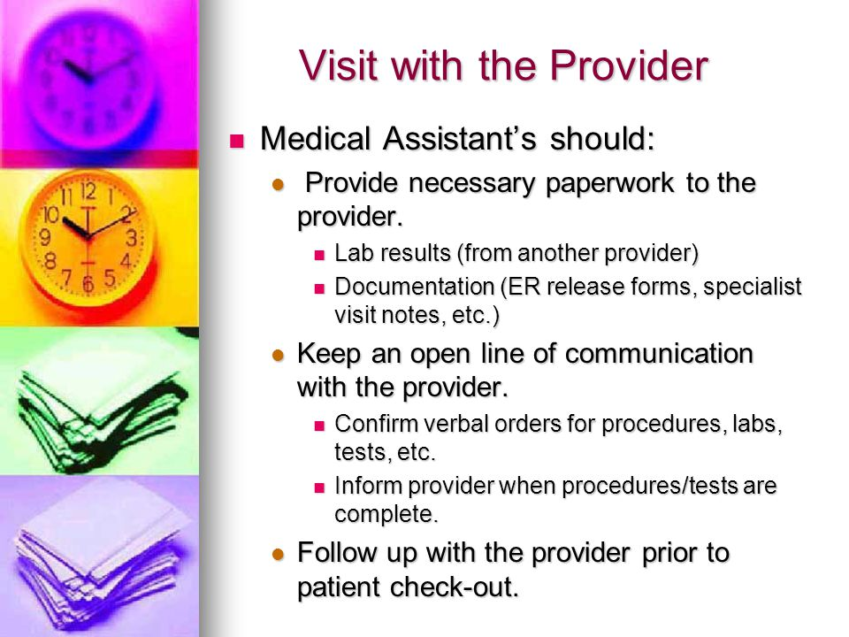 Visit with the Provider