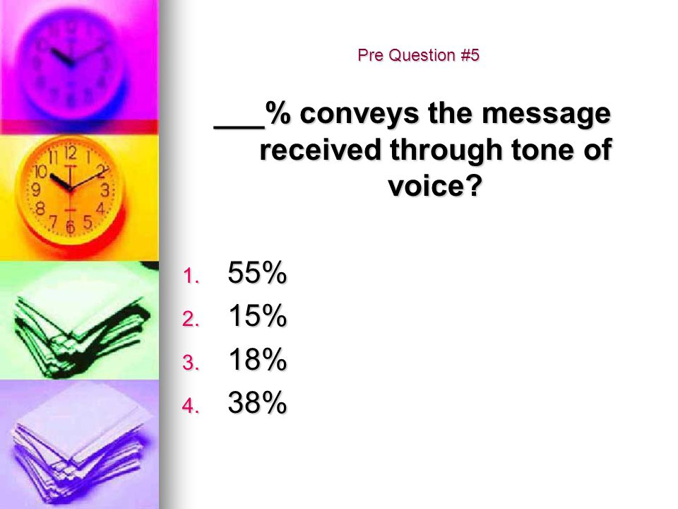 ___% conveys the message received through tone of voice