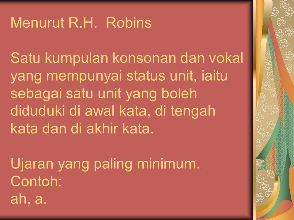 Menurut R.H.