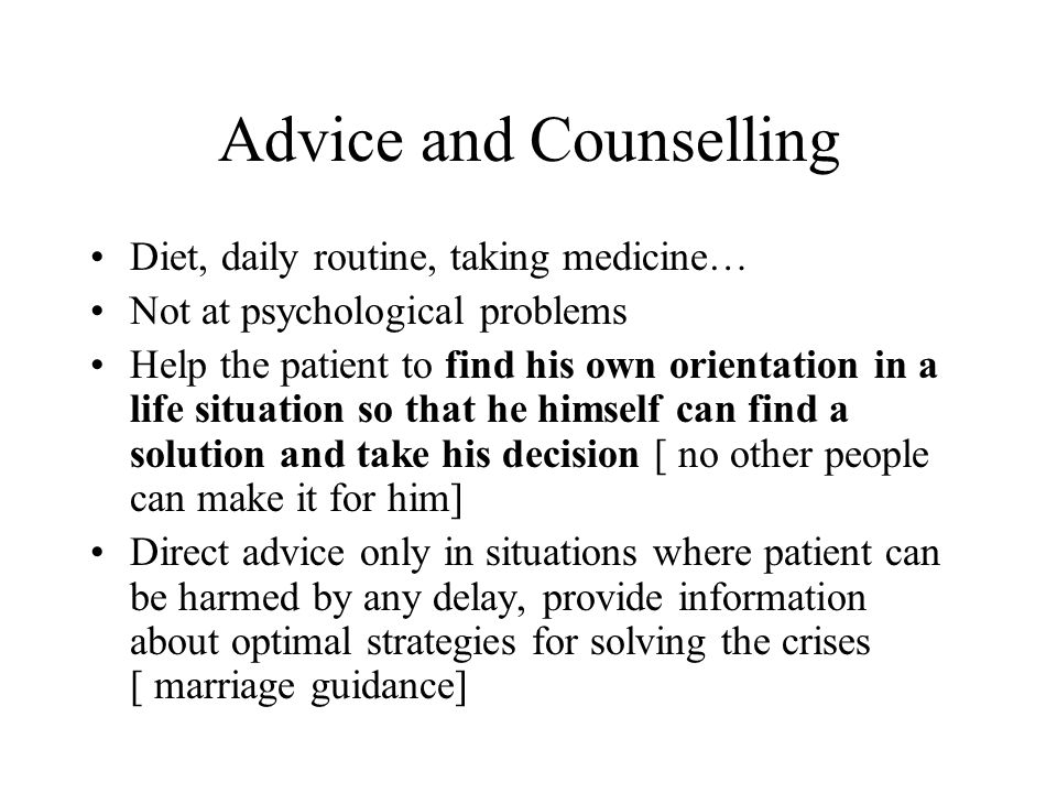 Advice and Counselling