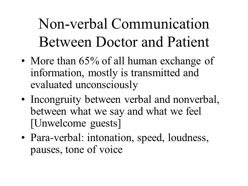 Non-verbal Communication Between Doctor and Patient
