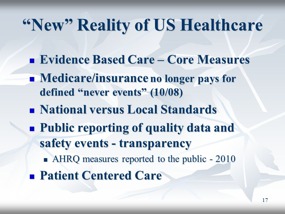 New Reality of US Healthcare