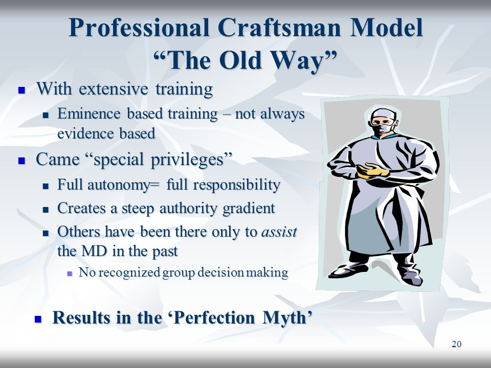 Professional Craftsman Model The Old Way