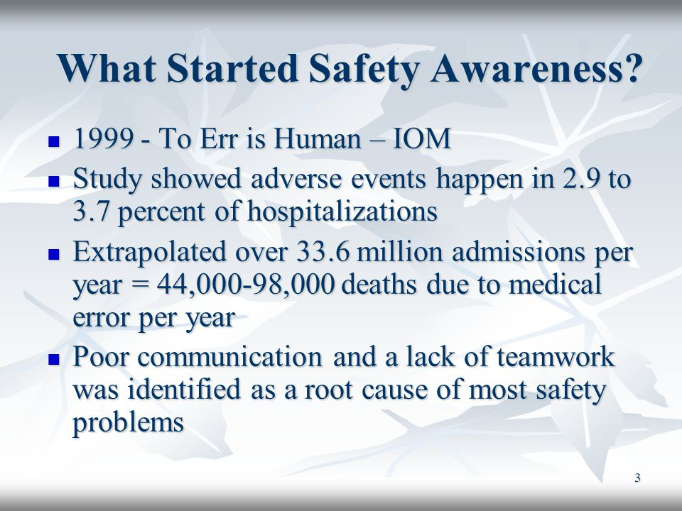 What Started Safety Awareness