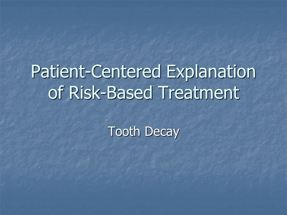 Patient-Centered Explanation of Risk-Based Treatment