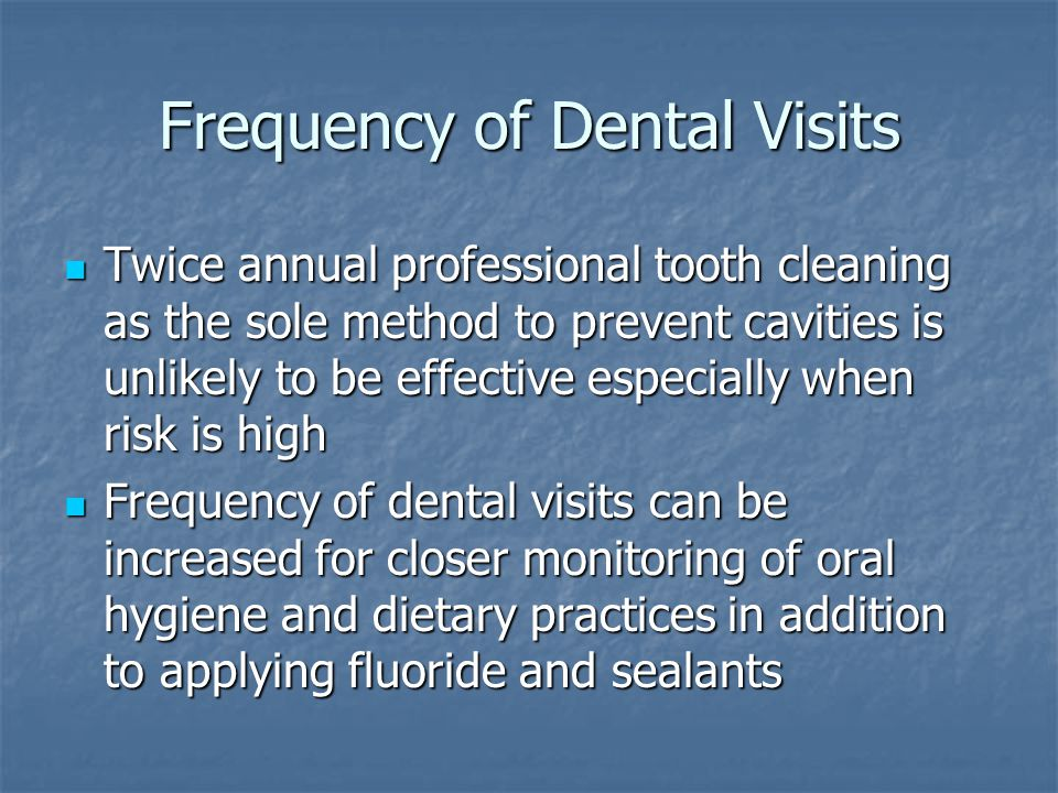 Frequency of Dental Visits
