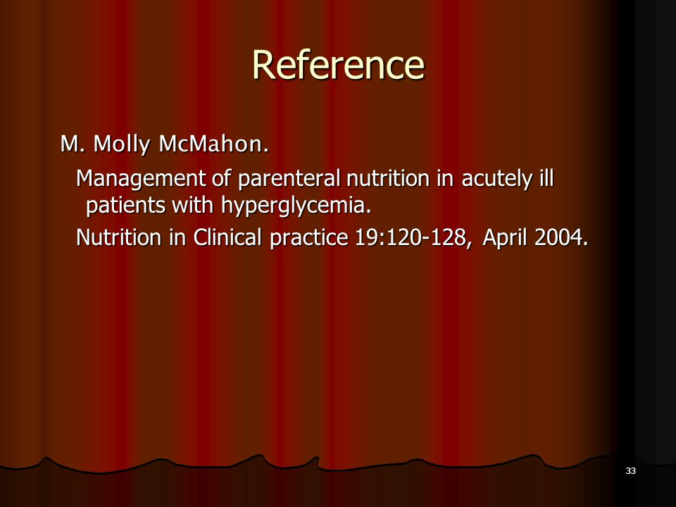 Reference M. Molly McMahon.