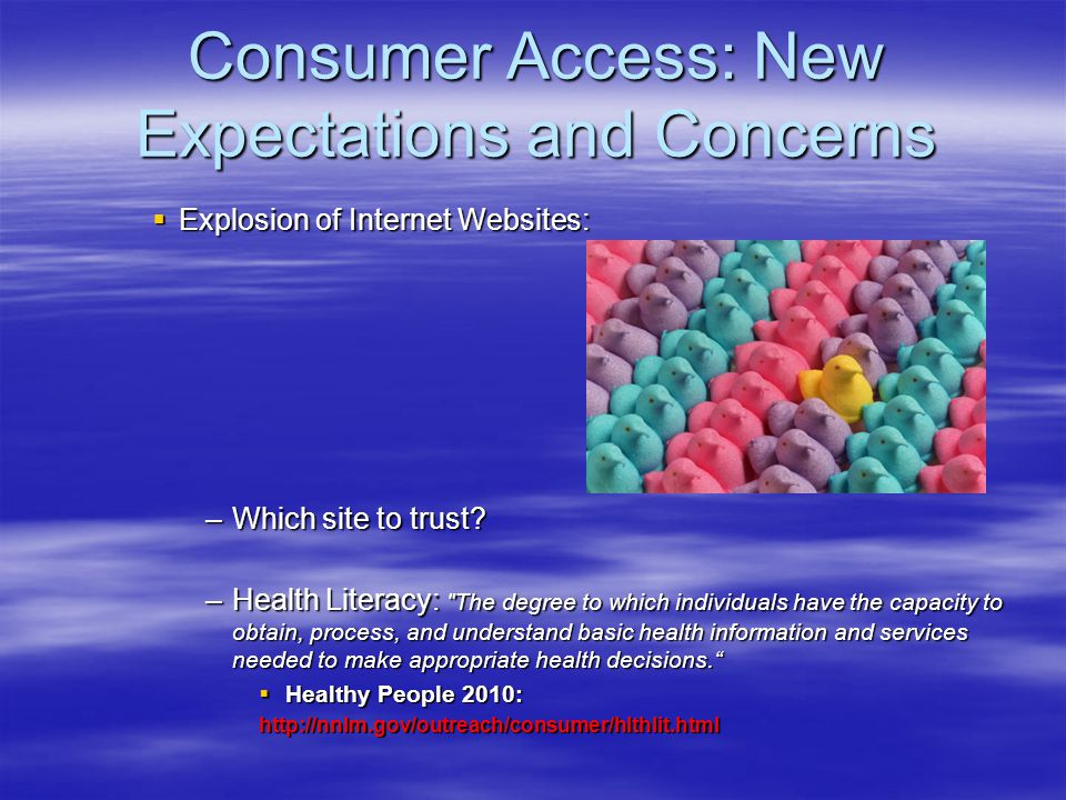 Consumer Access: New Expectations and Concerns