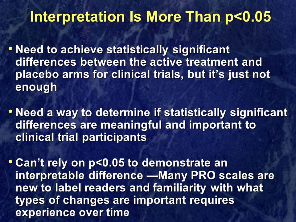 Interpretation Is More Than p<0.05