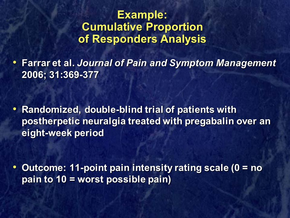 Example: Cumulative Proportion of Responders Analysis