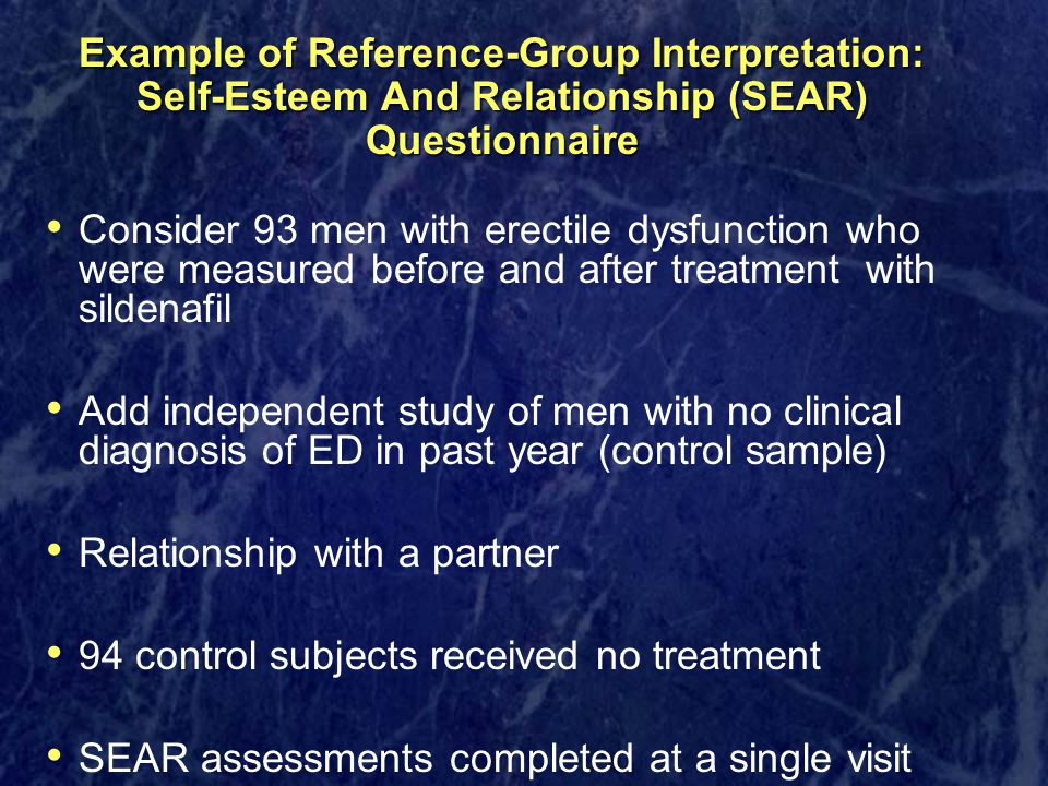 Example of Reference-Group Interpretation: Self-Esteem And Relationship (SEAR) Questionnaire