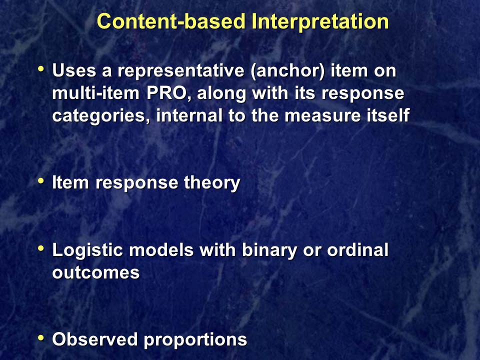 Content-based Interpretation