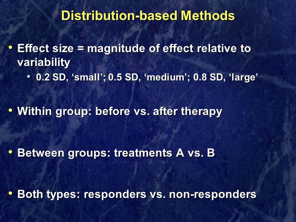 Distribution-based Methods
