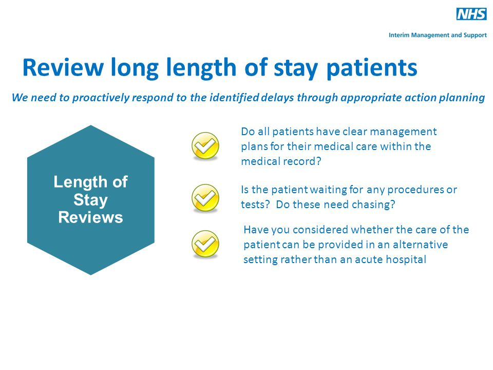 Review long length of stay patients