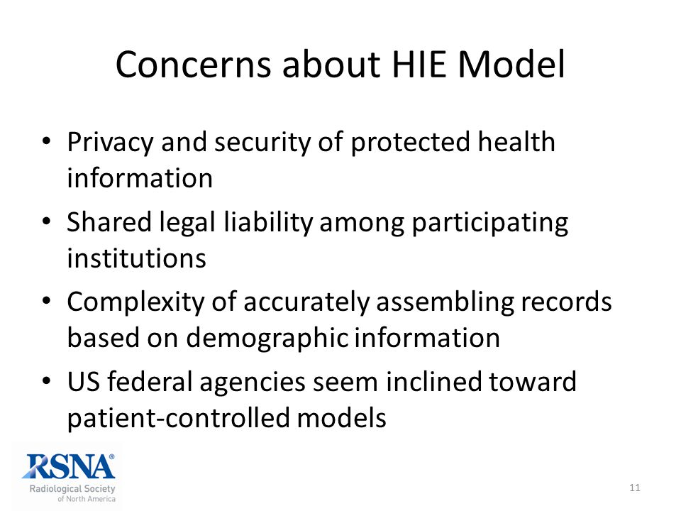 Concerns about HIE Model