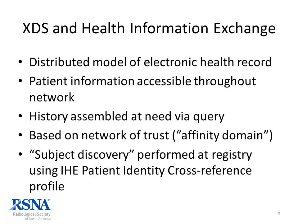 XDS and Health Information Exchange