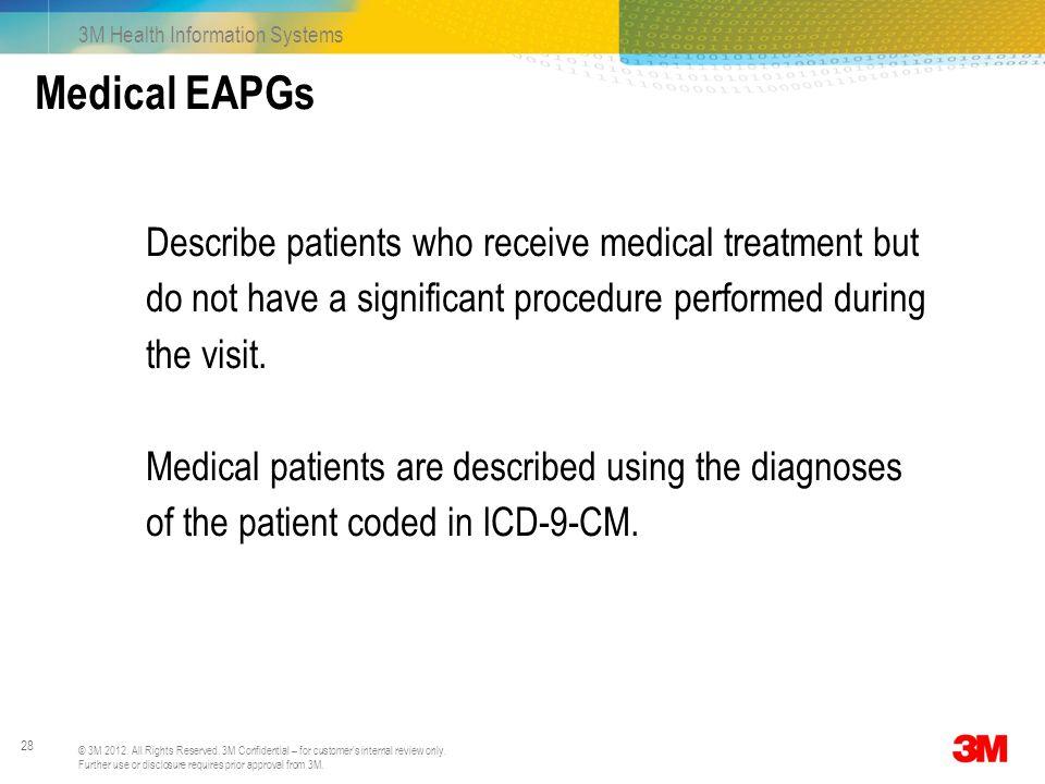 Medical EAPGs