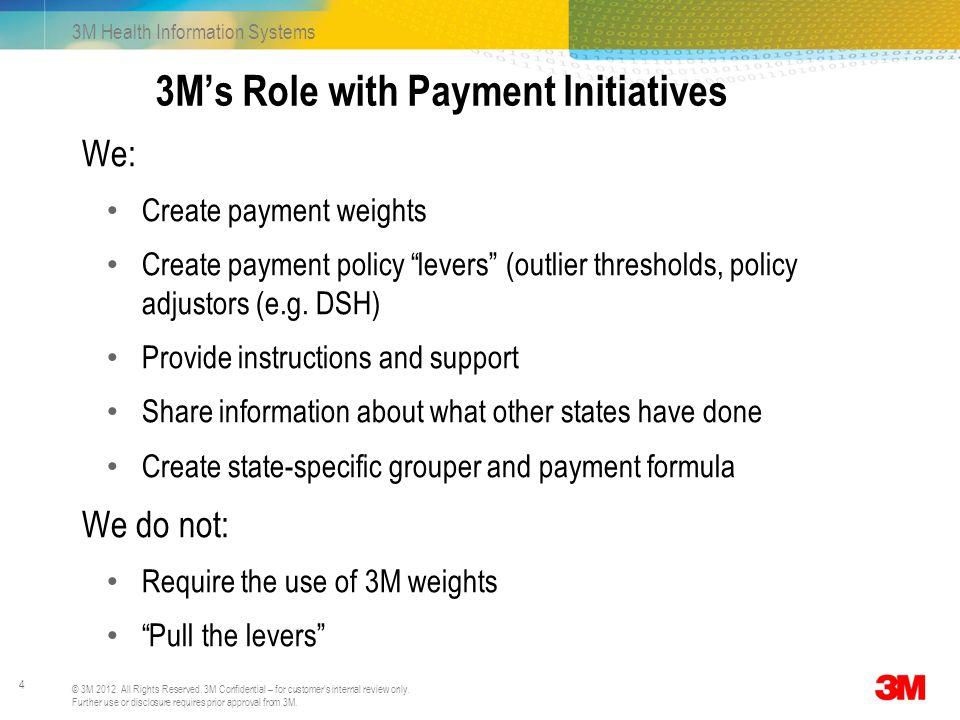 3M's Role with Payment Initiatives