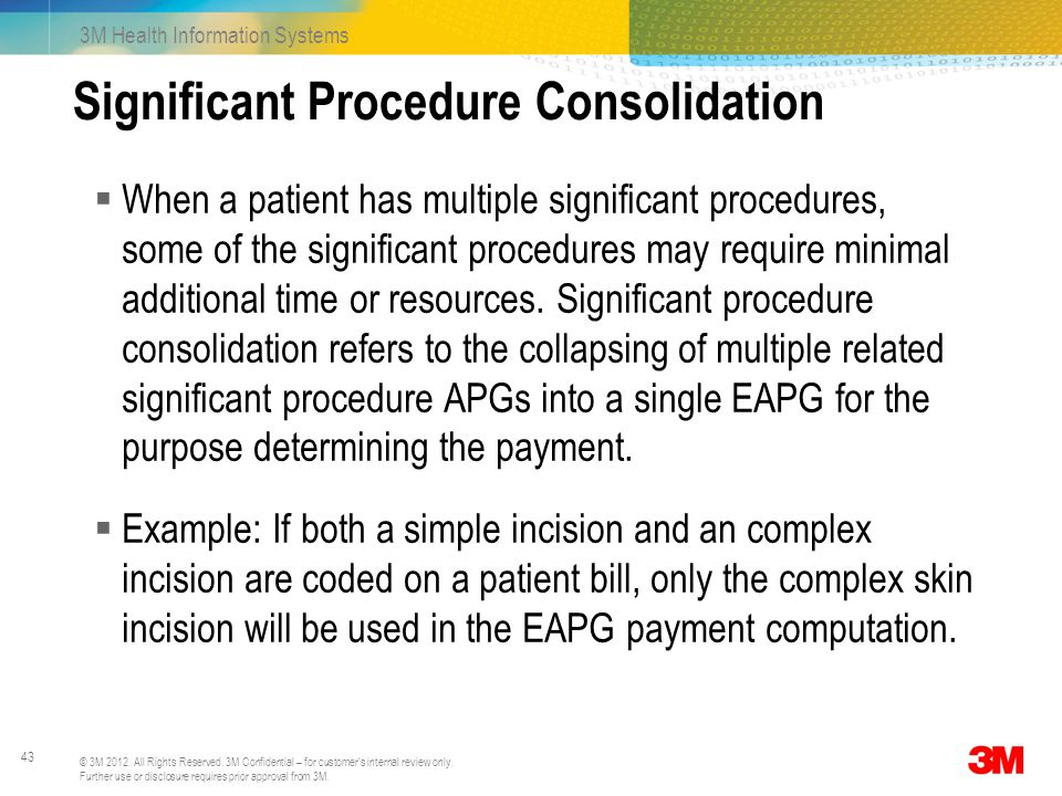 Significant Procedure Consolidation