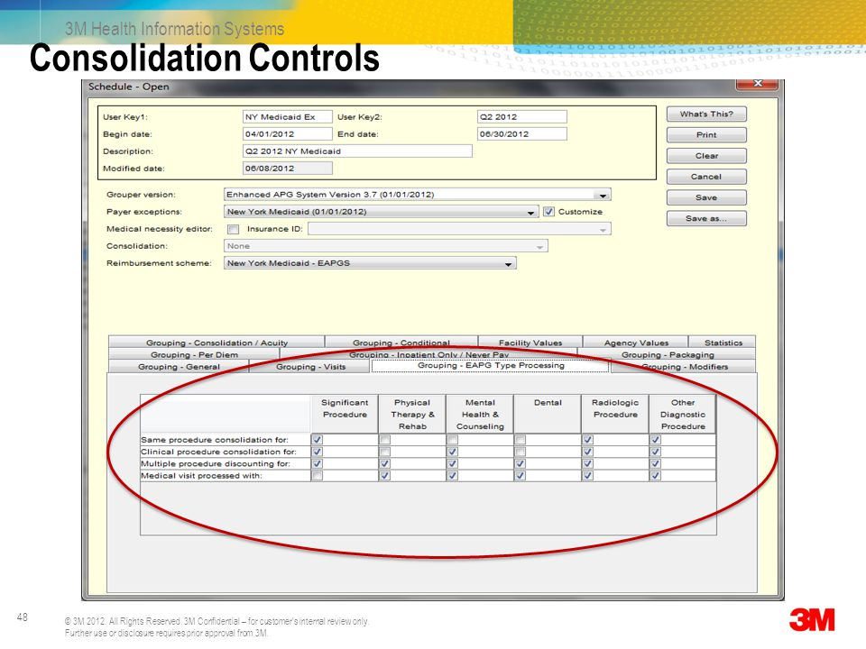 Consolidation Controls