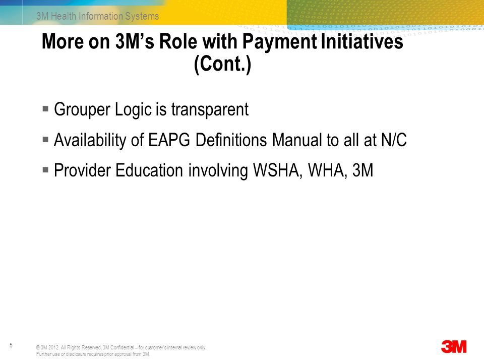 More on 3M's Role with Payment Initiatives (Cont.)