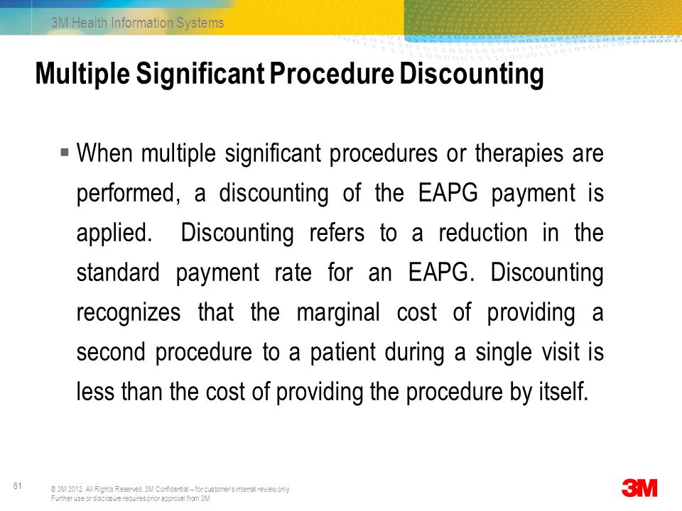 Multiple Significant Procedure Discounting