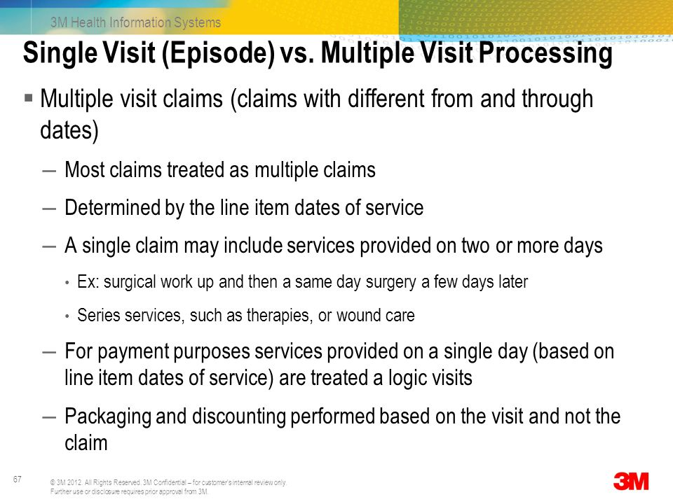 Single Visit (Episode) vs. Multiple Visit Processing
