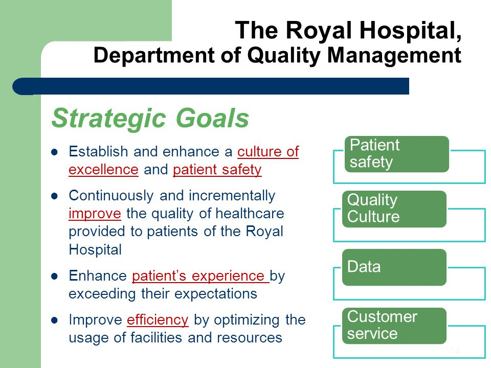 The Royal Hospital, Department of Quality Management2