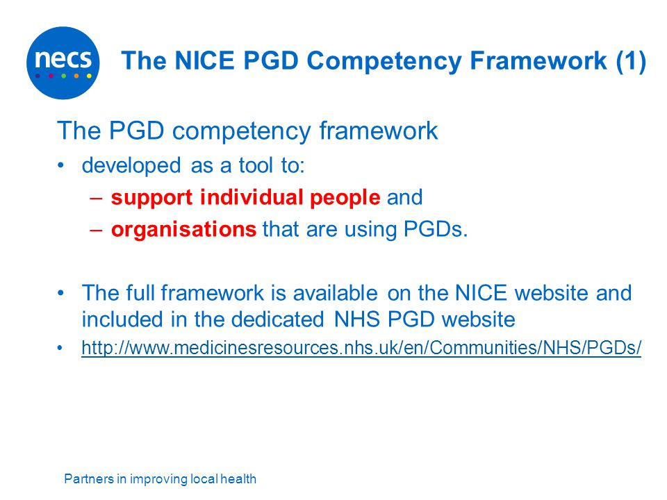 The NICE PGD Competency Framework (1)