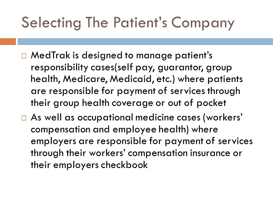 Selecting The Patient's Company