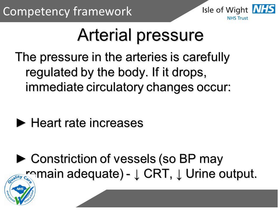 Arterial pressure Competency framework