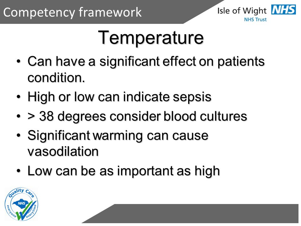Temperature Competency framework