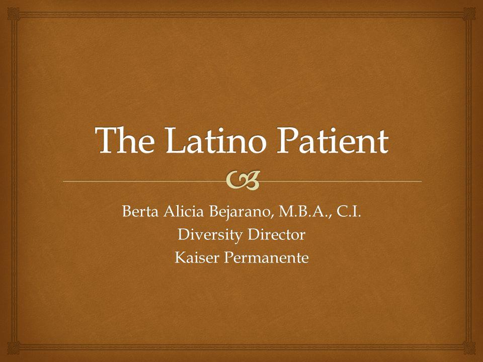 Berta Alicia Bejarano, M.B.A., C.I.