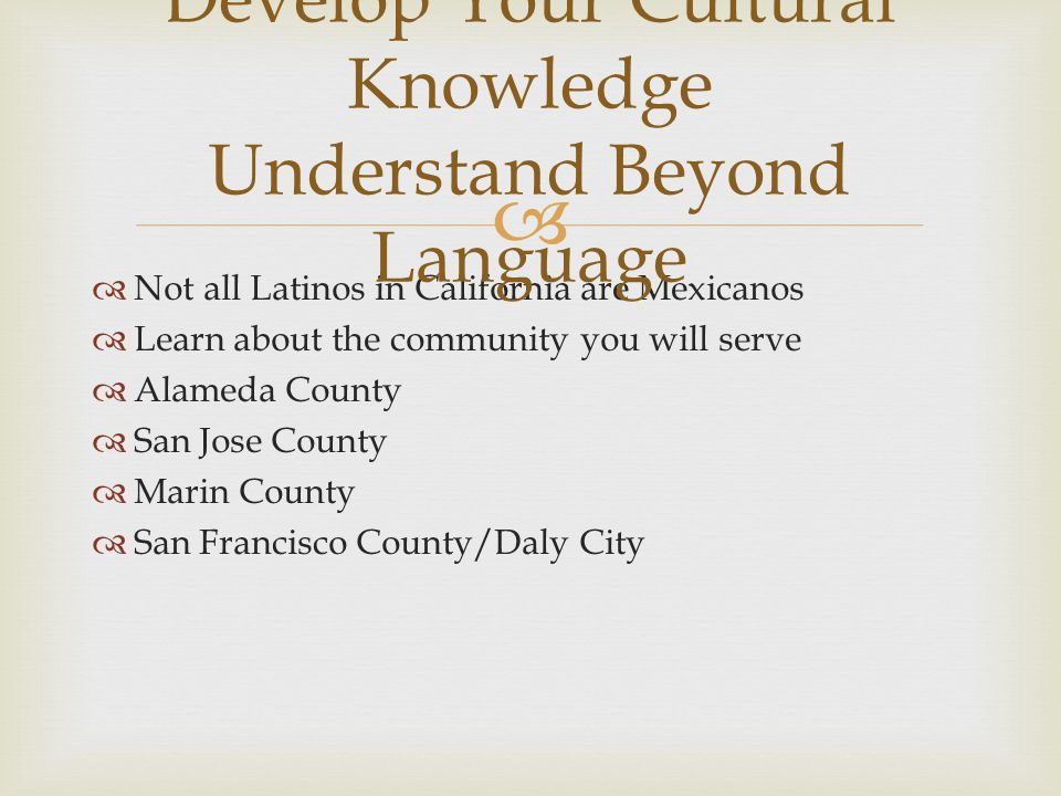Develop Your Cultural Knowledge Understand Beyond Language