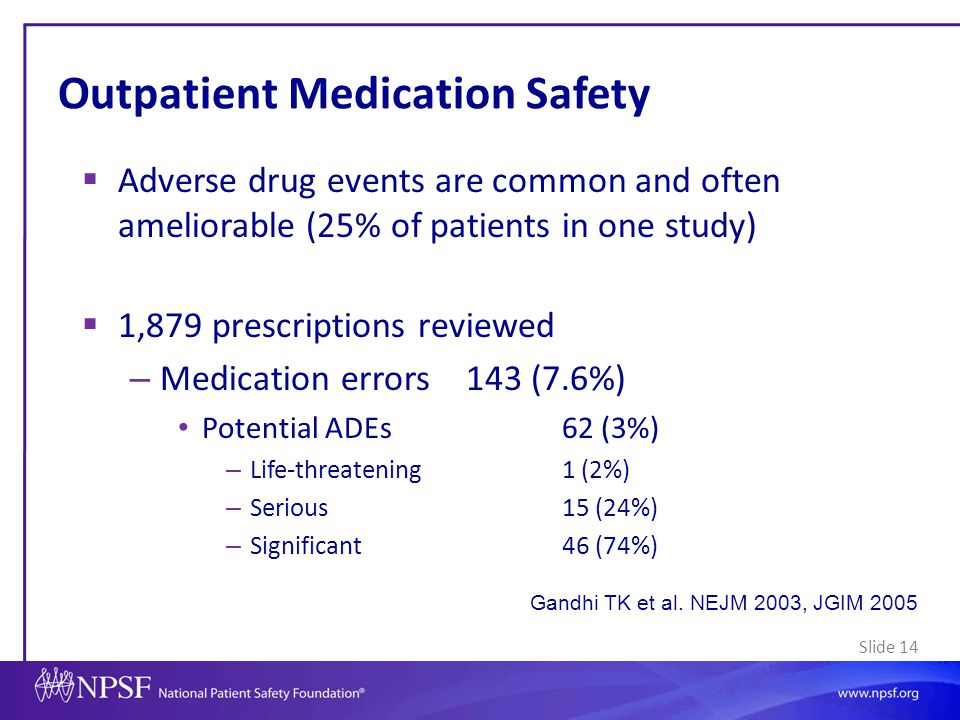 Outpatient Medication Safety