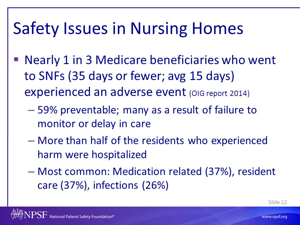 Safety Issues in Nursing Homes