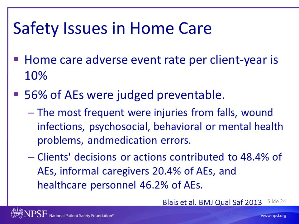 Safety Issues in Home Care
