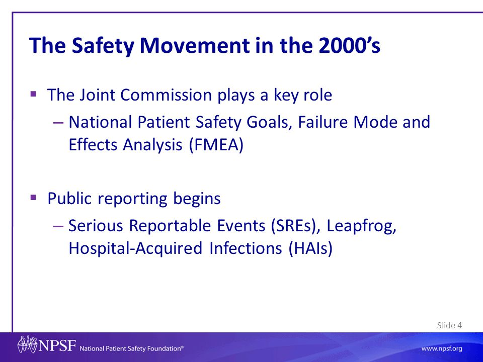 The Safety Movement in the 2000's