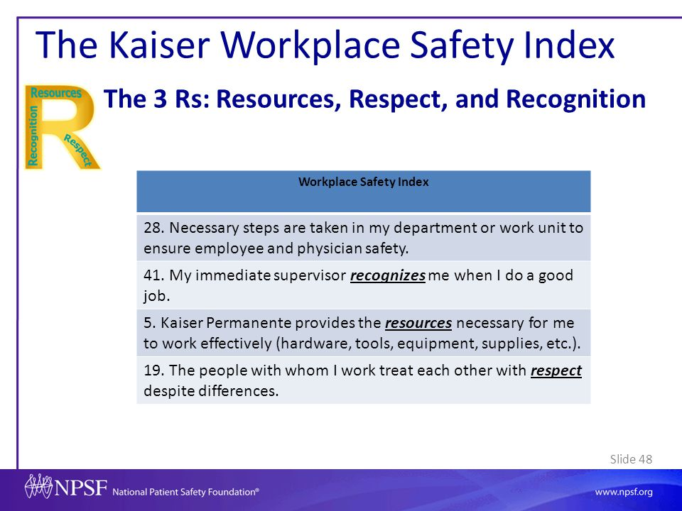 Workplace Safety Index
