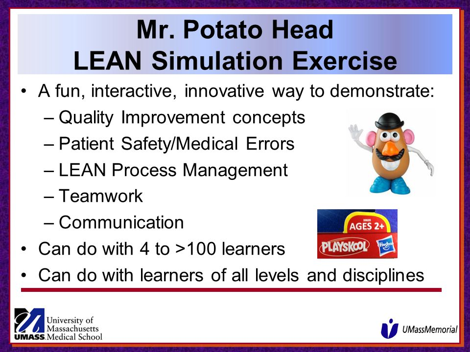 Mr. Potato Head LEAN Simulation Exercise