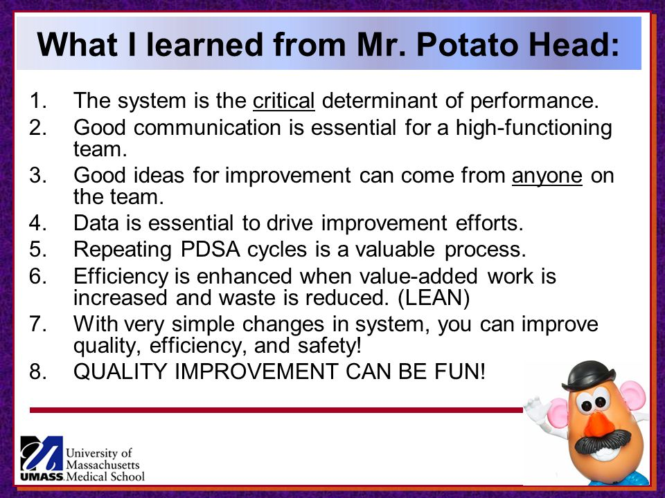 What I learned from Mr. Potato Head: