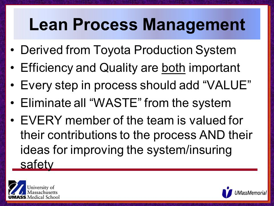 Lean Process Management