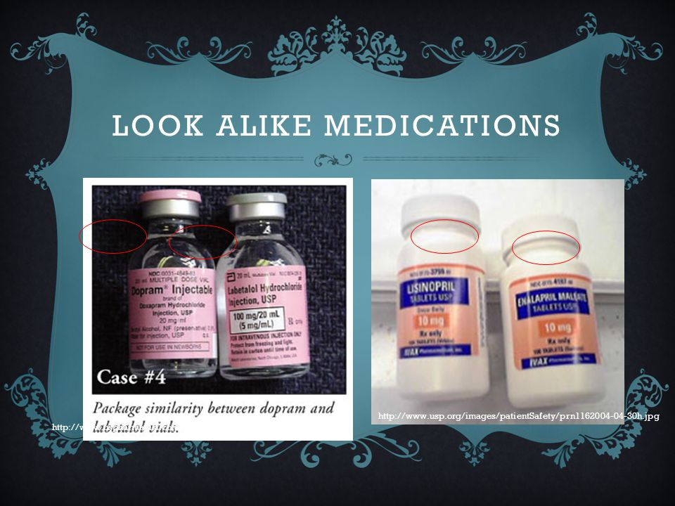 Look alike medications