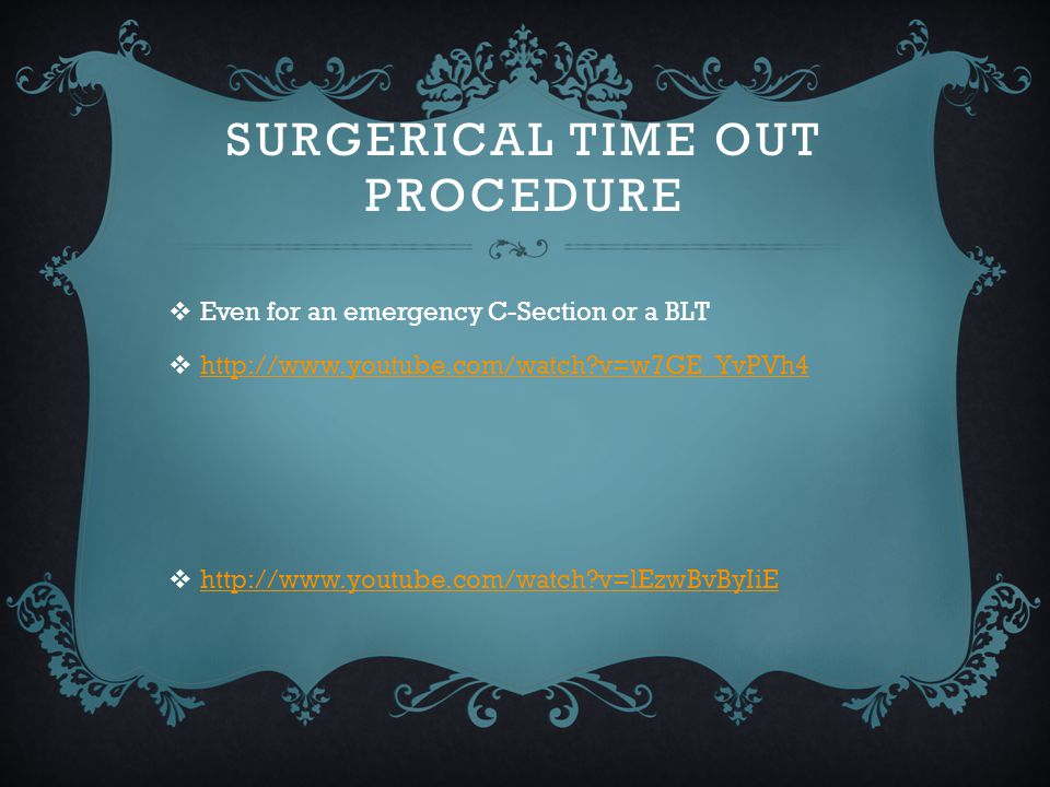Surgerical Time Out Procedure