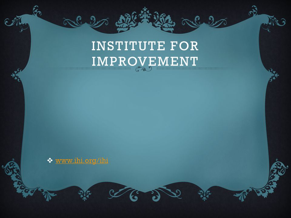 Institute for Improvement