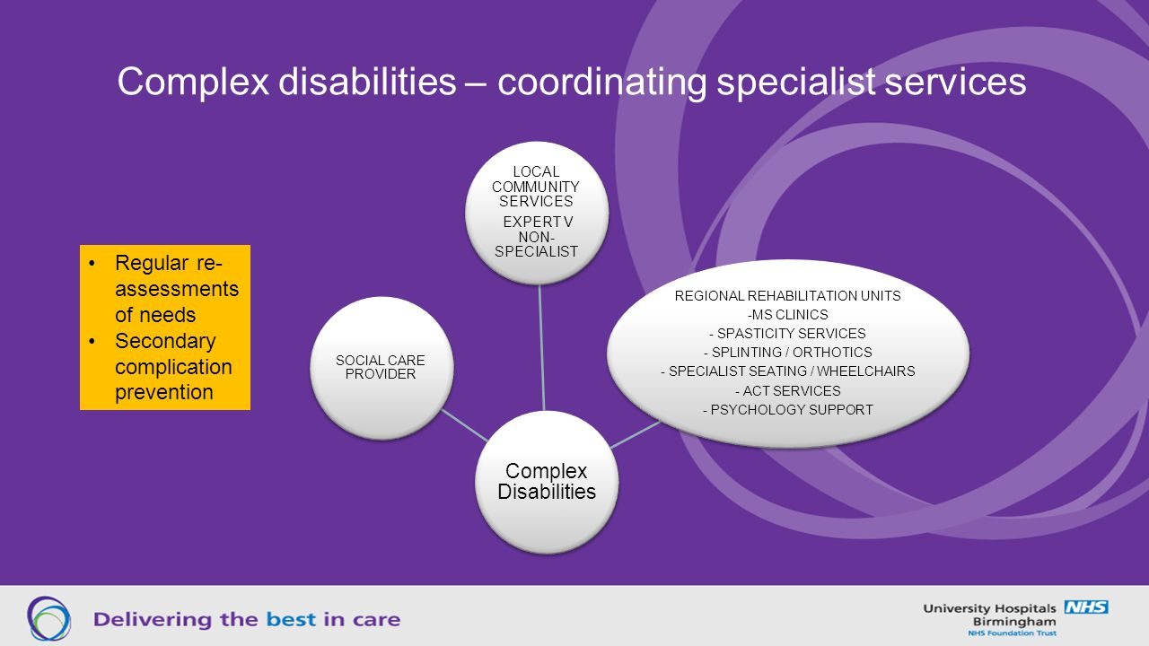 Complex disabilities – coordinating specialist services