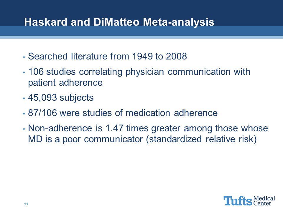 Haskard and DiMatteo Meta-analysis