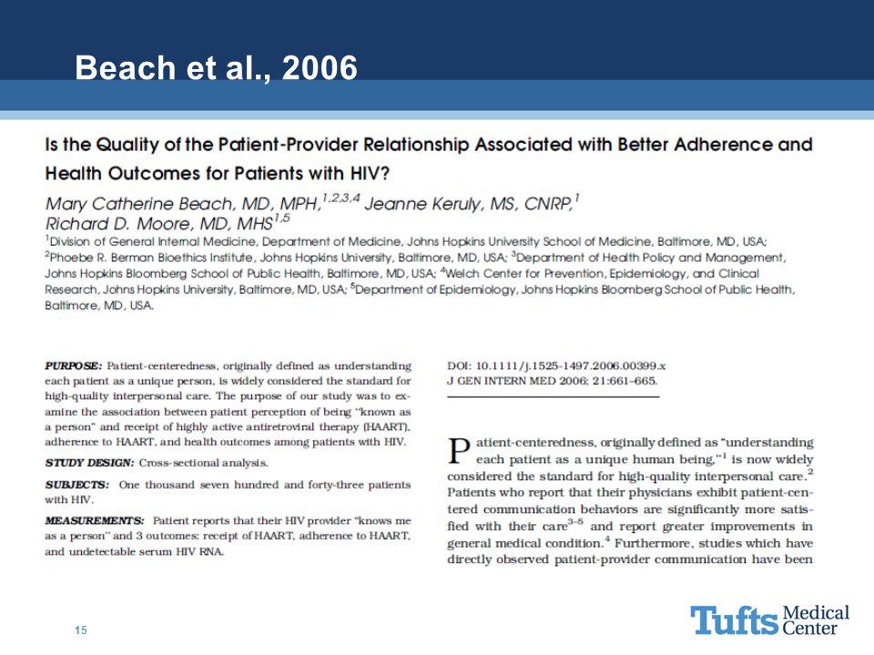 Beach et al., 2006
